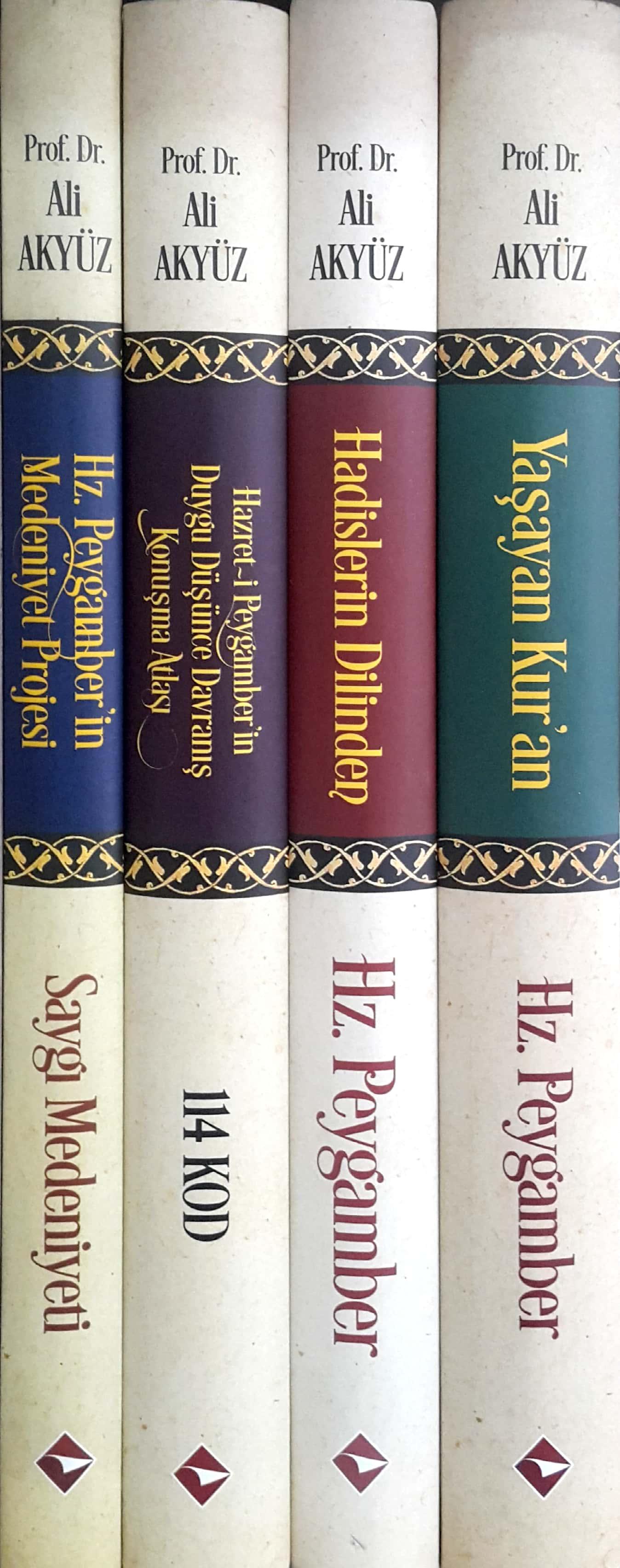Prof. Dr. Ali Akyüz Tüm Eserleri (4 Kitap, Ciltli, Ivory Kağıt)